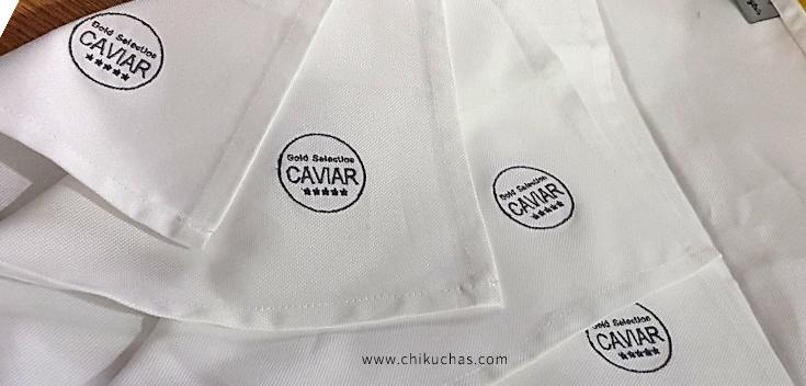 Bordados en servilletas (RESTAURANTE CAVIAR)