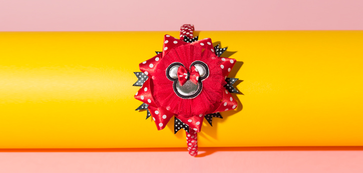 Diadema (bordado) inspirado en Minnie