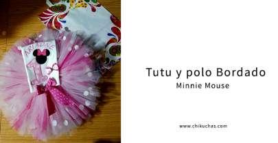 Tutu y polo bordado (Minnie Bebé)