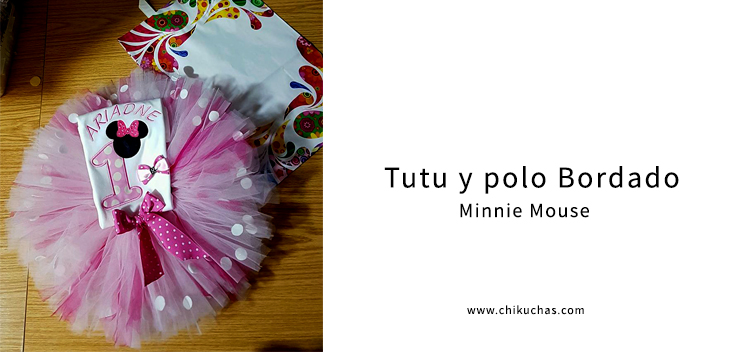 Tutu y polo bordado (Minnie Bebé)