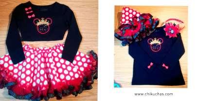 Vestidos temático (Minnie Mouse)