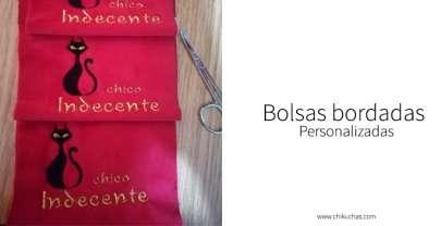 Bolsa bordada personalizada