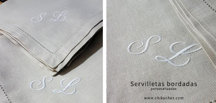 Servilletas bordadas personalizadas (para hosteleria)