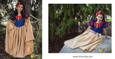 Vestido temático inspirado en BLANCA NIEVES