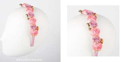 Diademas de Rosas en satin