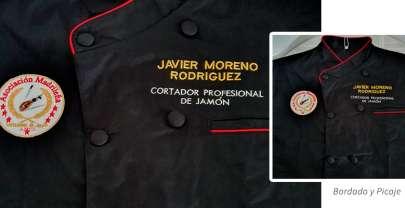 Nombre bordado para uniformes