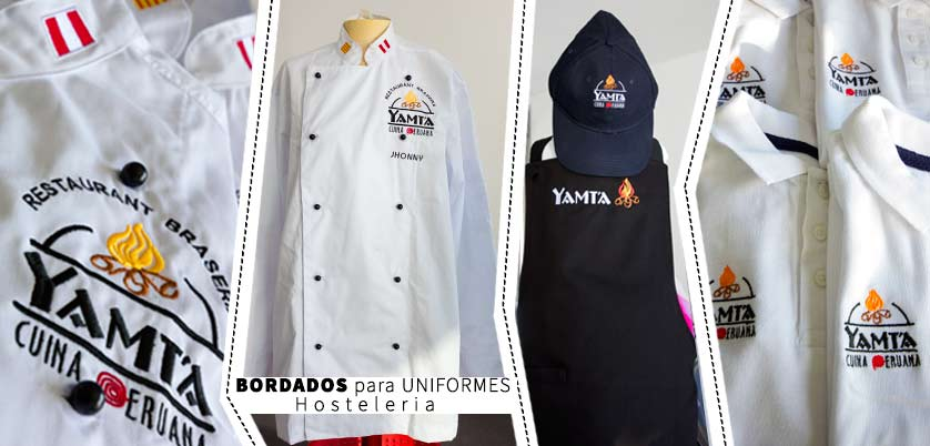 Uniforme confeccionado y bordado para Hosteleria