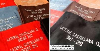 Delantales bordados personalizado