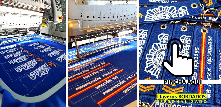 Llaveros de tela BORDADOS personalizados MADRID