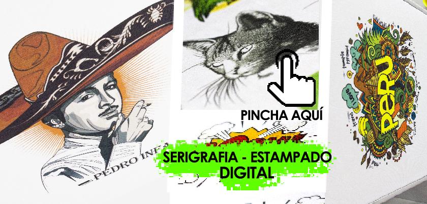 Servicios de serigrafia digital personalizado DTG Madrid